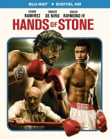 Hands of Stone: Blu-ray + Digital HD combo pack cover art -- click to buy from Amazon.com
