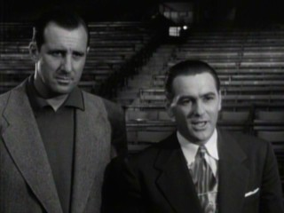 "Hank Greenberg appears in a clip from the 1949 Paramount movie ""The Kid from Cleveland."""