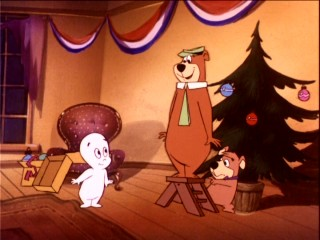 Casper lives up to his reputation as a friendly ghost with a polite introduction to Yogi Bear and Boo-Boo.