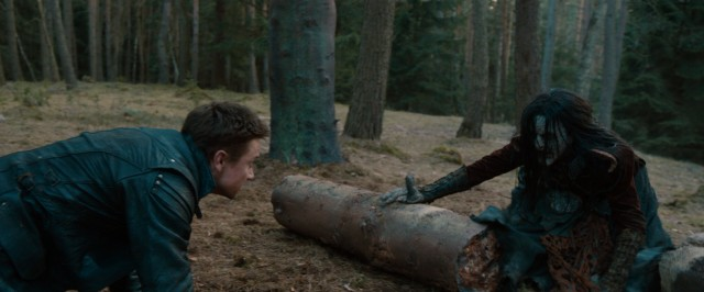 Hansel (Jeremy Renner) puts his witch hunting expertise to use in the woods of yore.