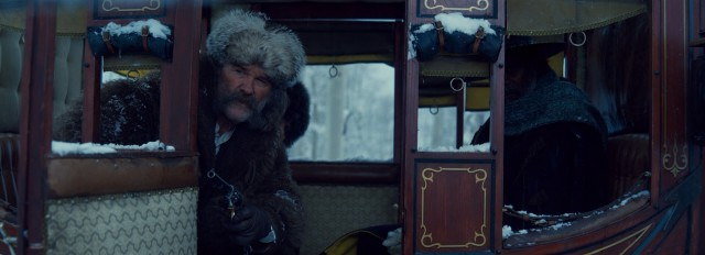 """The Hateful Eight"" opens with multiple people requesting a ride in the six-horse stagecoach of bounty hunter John Ruth (Kurt Russell)."