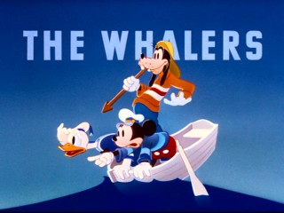 Anti-whaling activists might be offended by three of America's favorite cartoon characters, if Mickey, Donald, and Goofy had any chance of catching a whale.