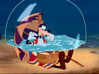 "Goofy's instructional credentials are ever questionable in ""How to Swim"", in which he unknowingly picnics on the ocean floor."