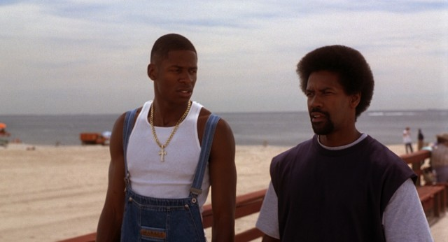 "Jesus Shuttlesworth's (Ray Allen) overalls and Jake Shuttlesworth's (Denzel Washington) afro may challenge your understanding of late-1990s fashions in the Coney Island-set ""He Got Game."""