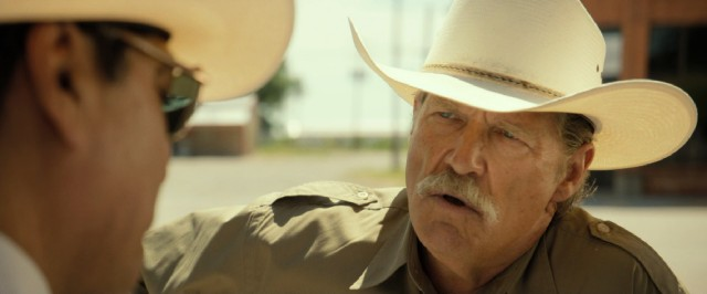 Jeff Bridges steals the scene as Marcus Hamilton, a salty old Texas ranger weeks away from retirement.