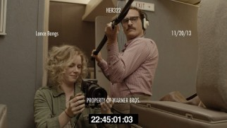 "Amy Adams and Joaquin Phoenix play crew on the set of ""The Untitled Rick Howard Project"", later known as ""Her."""