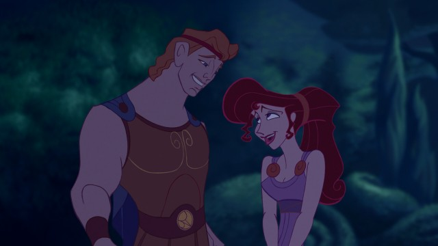 Though she tries to fight it, Meg falls in love with Hercules, of course.