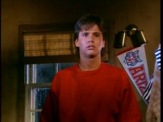 The unflappable Ted (David Lascher) gets scared in the dark.