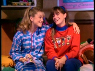 Though they have their differences, bunkmates Melody (Christine Taylor) and Brad (Kelly Brown) are best friends.
