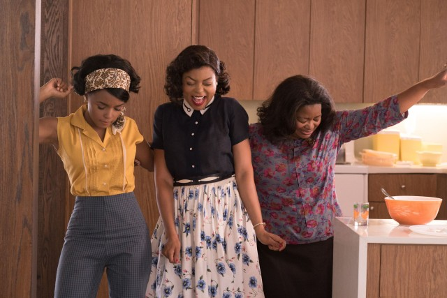 """Hidden Figures"" centers on three African-American women (Janelle Monáe, Taraji P. Henson, and Octavia Spencer who work at NASA's Langley Research Center in Virginia in the early 1960s."
