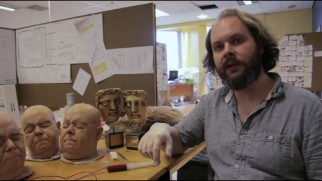 "A crew member discusses the silicone heads made for the film in ""Heady Special Effects."""