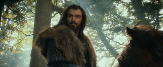 Hunky focal dwarf Thorin (Richard Armitage) has his doubts about Bilbo's qualifications.