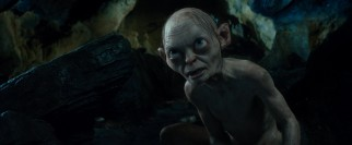 "The return of Gollum (again Andy Serkis, replaced by motion capture animation) for a game of riddles gives ""The Hobbit"" its most riveting (and least intelligible) sequence."