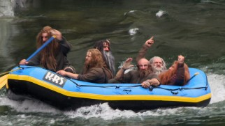Made-up dwarves go rafting in one ten video blogs.