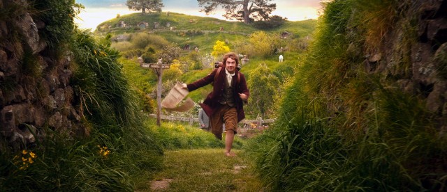 "Bilbo Baggins (Martin Freeman) runs to catch up to the dwarves and join them on an adventure in ""The Hobbit: An Unexpected Journey."""