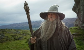 "Ian McKellen reprises his role as Gandalf the Grey in ""The Hobbit: An Unexpected Journey."""