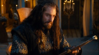 The hunky Thorin Oakenshield (Richard Armitage) is the leader and most focal of the dwarves.