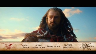 Thorin (Richard Armitage) gets hunky on the DVD's main menu montage.