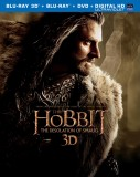The Hobbit: The Desolation of Smaug: Blu-ray 3D + Blu-ray + DVD + UltraViolet combo pack cover art -- click to buy from Amazon.com
