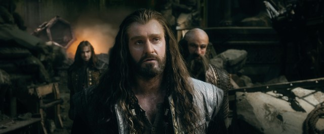 "Broody dwarf king Thorin Oakenshield (Richard Armitage) is more interested in obtaining the Arkenstone than keeping peace or his word in ""The Hobbit: The Battle of the Five Armies."""