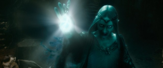 You wouldn't like Galadriel (Cate Blanchett) when she's angry. Green Galadriel smash!