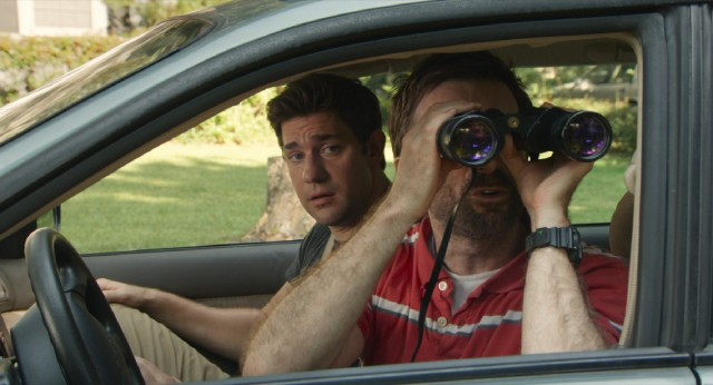 To the bewilderment of his brother John (John Krasinski), Ron (Sharlto Copley) uses binoculars to peek in on the lives of his daughters, his ex, and her new beau.