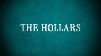 The Hollars' theatrical trailer opts for a turquoise color scheme that the poster and cover art didn't reprise.