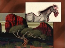 Very different looking character and scenery designs feature in the Art Review.