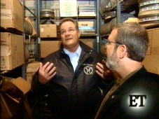 "Michael Wayne shows Leonard Maltin around the Batjac Vaults in this ""Entertainment Tonight"" clip."