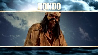 "Apache, jump on it! Jump on it! Chief Vittorio (Michael Pate) features in the ""Hondo"" Blu-ray menu montage."