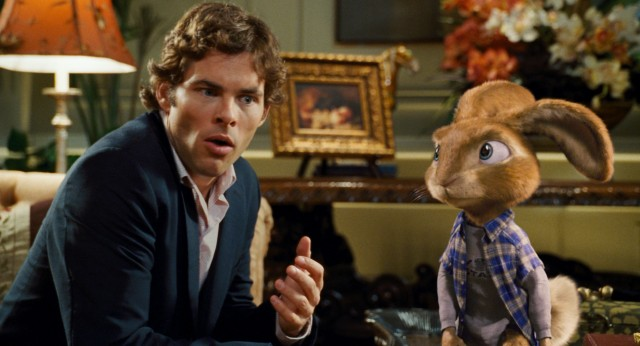"In ""Hop"", ne'er-do-well Fred O'Hare (James Marsden) and Easter Bunny's son E.B. (voiced by Russell Brand) become housemates in a Beverly Hills mansion."