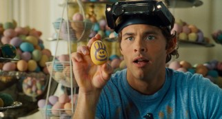 Fred O'Hare (James Marsden) leaves some room for improvement in his primitive early attempt to paint a bunny on an Easter egg.
