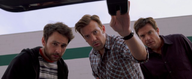 "Friends Dale (Charlie Day), Kurt (Jason Sudeikis), and Nick (Jason Bateman) again find themselves in a criminal plot over their heads in ""Horrible Bosses 2."""