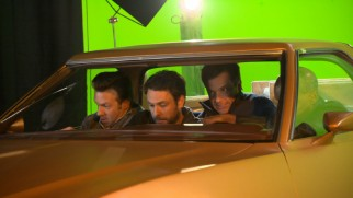 """High Speed Crash Course"" offers behind-the-scenes look at the guys' green screen car stunt."