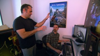 "Genndy Tartakovsky does some directing for the cameras in ""Making the Hotel."""
