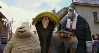 "In ""Hotel Transylvania"", Murray, Dracula, Wayne, Frank, and Griffin effortlessly blend in at the climax's human monster festival."