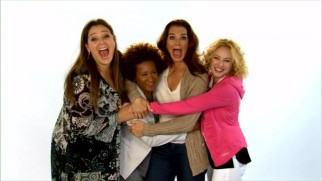 "The cast of ""The Hot Flashes"" encourage mammograms in American Cancer Society PSAs."