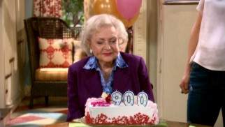 Elka Ostrovsky (Betty White) has an extra zero added to her 90th birthday cake. 'Cause she's old!