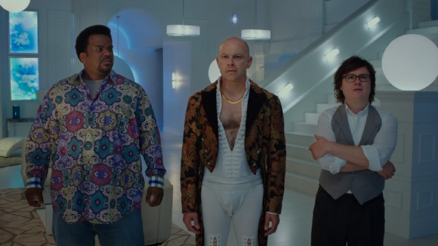 "In ""Hot Tub Time Machine 2"", the hot tub time machine takes Nick (Craig Robinson), Lou (Rob Corddry), and Jacob (Clark Duke) into the future...the year 2025."