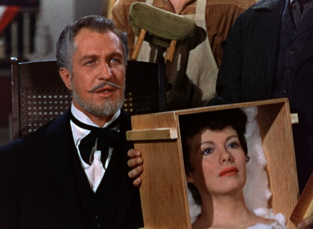 "In ""House of Wax"", Professor Henry Jarrold (Vincent Price) proudly shows off the lifelike wax head his artists can make from just a photograph."