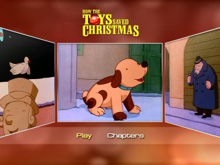 Jingles becomes a real dog in the focal center of Echo Bridge's three-montage DVD main menu.