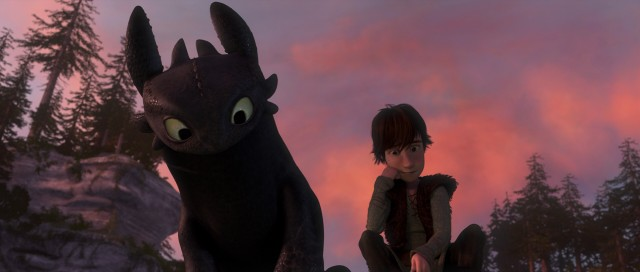 "Defying their species' long rivalry, Toothless the dragon and Hiccup the Viking become friends in ""How to Train Your Dragon."""
