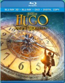 Hugo: Limited 3D Edition (Blu-ray 3D + Blu-ray + DVD + Digital Copy) combo pack cover art - click to buy from Amazon.com