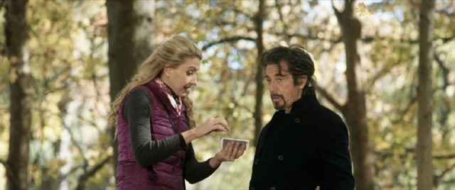 Rehab buddy Sybil Van Buren (Nina Arianda) persistently tries to hire Simon (Al Pacino) to kill her husband.