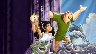 The Hunchback of Notre Dame's old DVD cover art becomes its static new Blu-ray menu.
