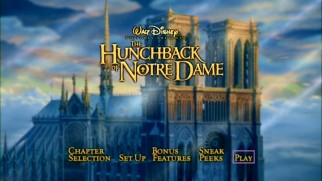 The main menu of the film's repackaged 2002 DVD is a little more animated and creative.