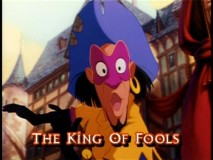 "Clopin earns the film a red light on CAP Alert with his use of the other F-word in the ""Topsy Turvy"" sing-along."