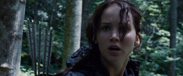 Teenaged archer Katniss Everdeen (Jennifer Lawrence) competes in The Hunger Games, a 24-contestant fight to the death.
