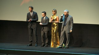 ...to director Gary Ross and his three young leads introducing the film at its premiere.
