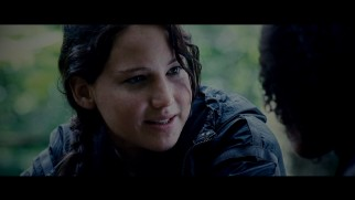 An extended talk between Katniss (Jennifer Lawrence) and Rue features among the original film's many never-before-seen deleted scenes.